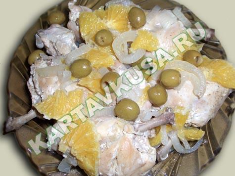 Рецепт приготовления кролика с апельсинами